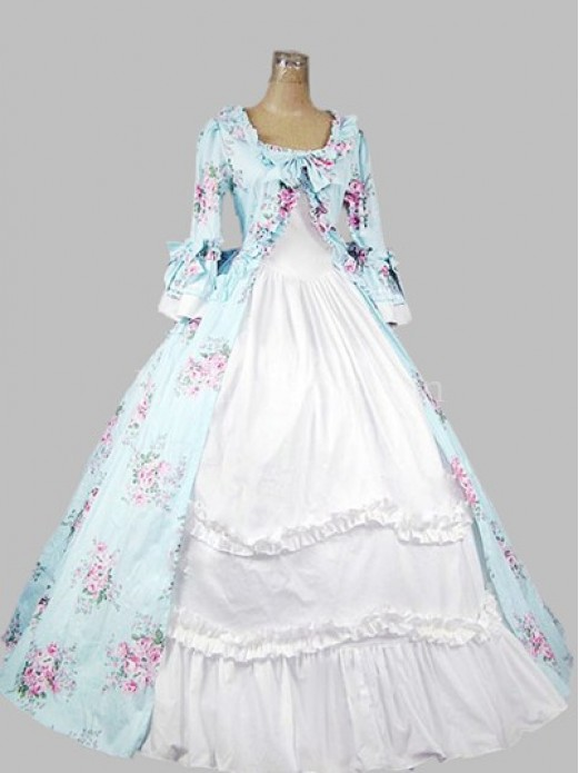 18th Century Rococo Style Colonial Era Dress Ball Gown