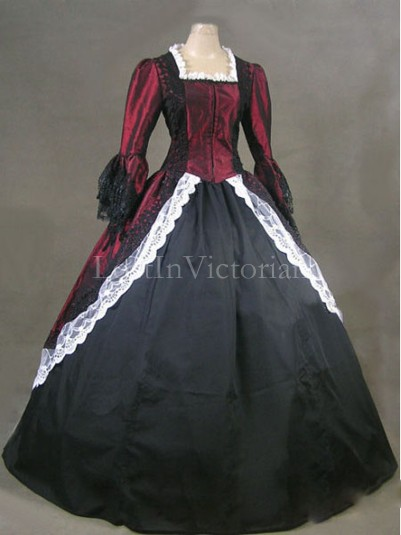 Historical 18th Century Colonial Period Dress Theatre Reenactment Clothing