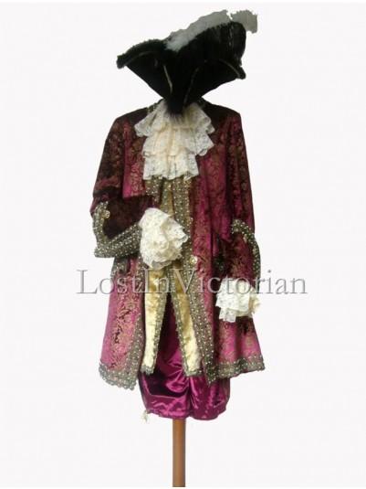18th Century Old Western Frock Coat & Waistcoat & Breeches Gentleman's Suit