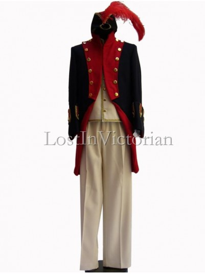 19th Century Military Uniform Men's Suit (Jacket & Waistcoat & Trousers)