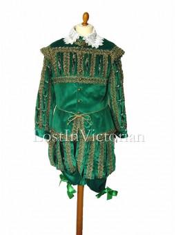 16th Century Gentleman's Green Renaissance Suit (Jacket & Breeches)