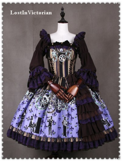 *Classical Puppets* Luxury Steam Punk OP Lolita Dress