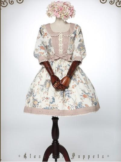 *Classical Puppets* Feminine Victorian Garden Rococo OP Lolita Dress