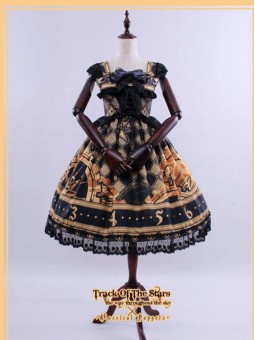 *Classical Puppets* Track of Star Gothic Lolita High Waist JSK Dress