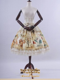 *Classical Puppets* Track of the Stars Fairyland Sweet Lolita High Waist Skirt SK