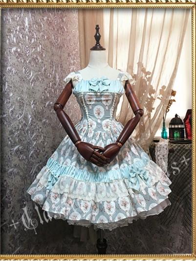 *Classical Puppets* The Phantom of Mirror Series High Waist Rococo JSK Lolita Dress