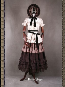 *Classical Puppets* Victorian Maiden Steampunk Four Piece Set Long Dress