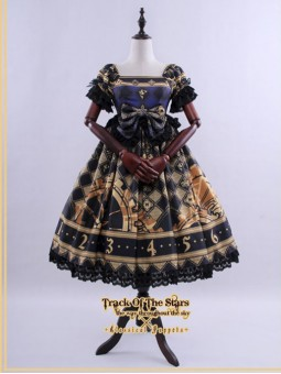 *Classical Puppets* Track of Star Gothic Lolita High Waist OP Dress