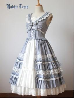 *Rabbit Teeth* ~Myosotis Sylvatica~ Vintage Classic Lolita JSK Dres