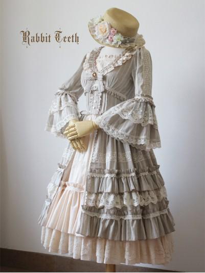 Rabbit Teeth ~Myosotis Sylvatica~ Vintage Classic Lolita OP Dress