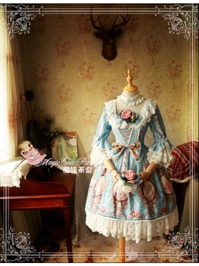 *Magic Tea Party* ~Spring of Europa~ Antoinette Rococo Inspired Lolita OP Dress