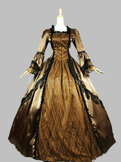 Historical 18th Century Marie Antoinette Inspired Dress Ball Gown Reenactment Clothing