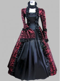 Gothic 18th Century Marie Antoinette Inspired Dress Halloween Costume Reenactment Clothing