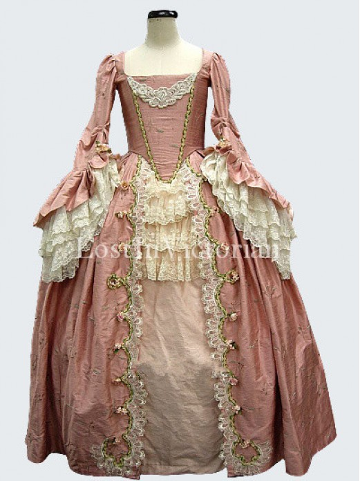 Gorgeous 18th century marie antoinette rococo dress ladies for Marie antoinette wedding dress