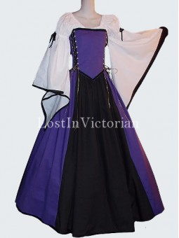 Historical Medieval Lady Dress Renaissance Faire Outfit Reenactment Clothing