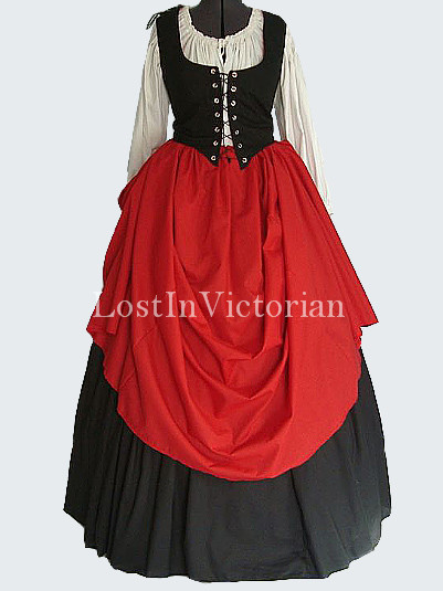 Historical Medieval Wench Costume Renaissance Faire Ladies Outfit