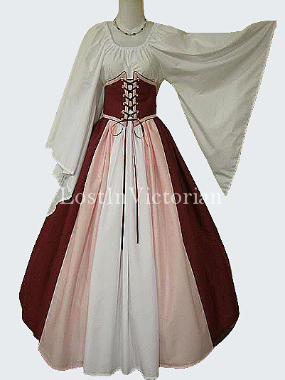 Reenactment Medieval Wench Costume Renaissance Faire Ladies Outfit