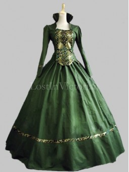 Historical Renaissance Period Queen Elizabeth Inspired Dress Theatre Reenactment Gown GREEN