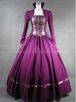 Historical Renaissance Period Queen Elizabeth Inspired Dress Theatre Reenactment Gown PURPLE