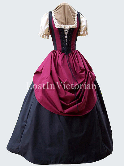 Historical Renaissance Pirate Wench Gown Ladies Renaissance Faire Outfit
