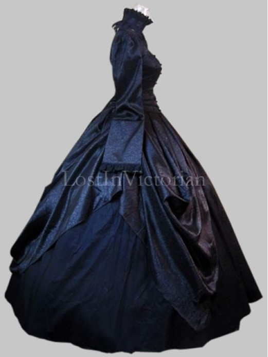 historical gothic victorian inspired dress ladies halloween costume theatre gown - Halloween Costumes Victorian