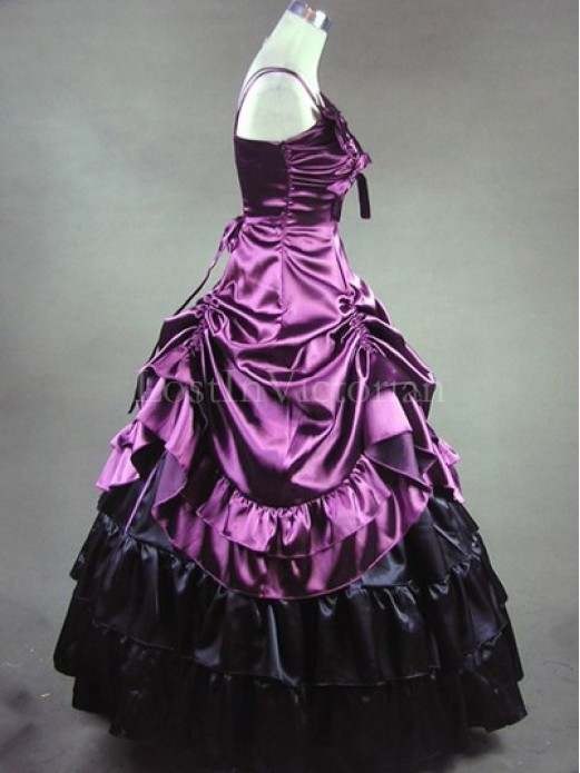 purple and black victorian inspired dress masquerade