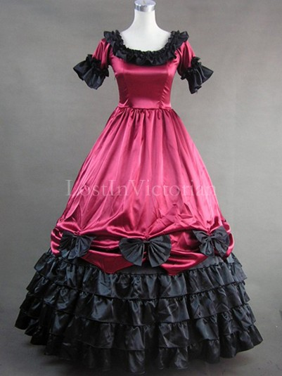Historical 19th Century Victorian Civil War Period Dress Masquerade Gothic Ball Gown