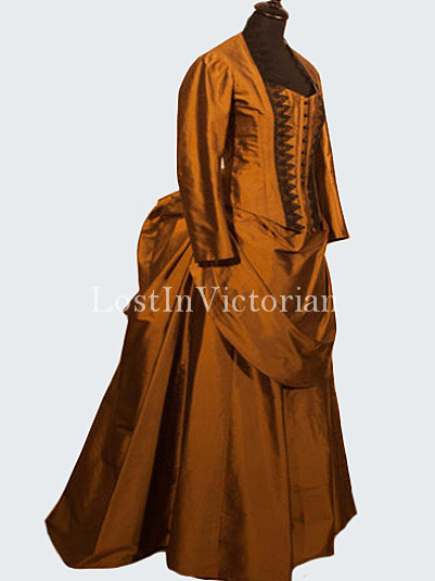 Historical 19th Century Victorian Bustle Dress/Many Colors Available