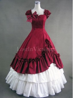 19th Century Victorian Civil War Period Dress Ball Gown Vintage Wedding Bridesmaid Dress