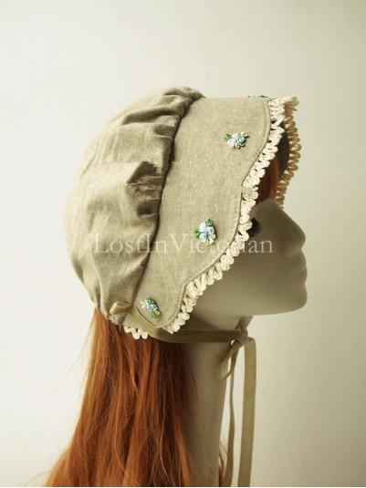 Mori Girl Rural Style Bonnet