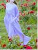 Romantic Lavender/White 100% Cotton Fairy Chemise Dress
