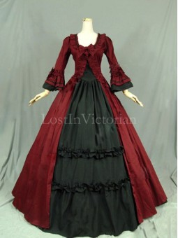 Historical 18th Century Colonial Era Dress Gown Reenactment Clothing for Women