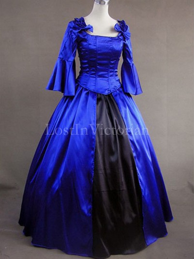 18th Century American Colonial Period Dress Ball Gown Prom Reenactment Clothing