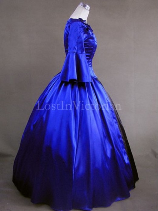 18th Century American Colonial Period Dress Ball Gown Prom