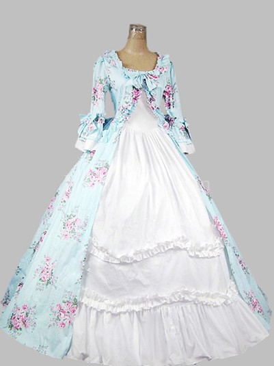 18th Century Rococo Style Colonial Era Dress Ball Gown Wedding Garden Tea Party Dress