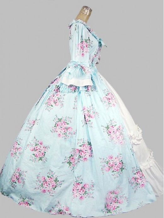 153f642d4df5 18th Century Rococo Style Colonial Era Dress Ball Gown Wedding Garden Tea  Party Dress