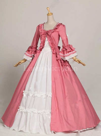 Historical 18th Century Colonial Era Dress Ball Gown Wedding Tea Party Dress