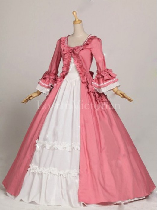 Historical 18th Century Colonial Era Dress Ball Gown Wedding Tea Party