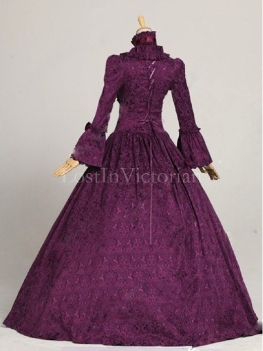 Historical 18th Century Georgian Colonial Era Dress Gown