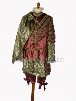 16th Century Gentleman's Renaissance Suit (Jacket & Breeches & Cloak)