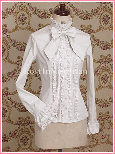 Long Sleeves White Lolita Blouse