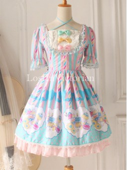 *Miss Point* Fairy Tale Print OP Sweet Lolita Tea Party Dress