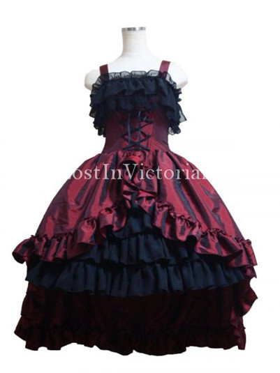 Ladies Spaghetti Straps Lolita Prom Dress