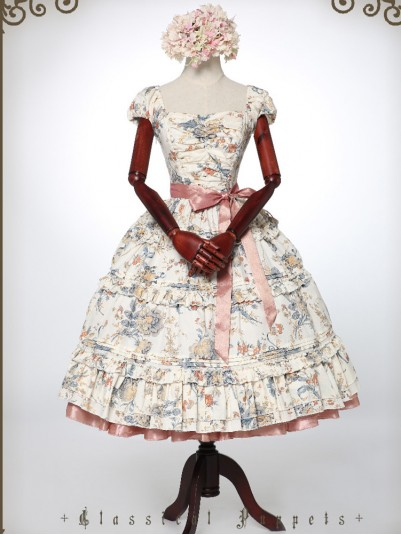 *Classical Puppets* Feminine Victoria Garden Rococo Garden Tea Party Long Dress