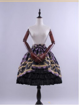 *Classical Puppets* Track Of The Stars Gothic Lolita Skirt
