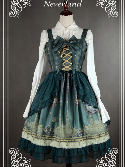 *Neverland* ~Arabian Nights~ Shirring Back Lolita JSK Dress