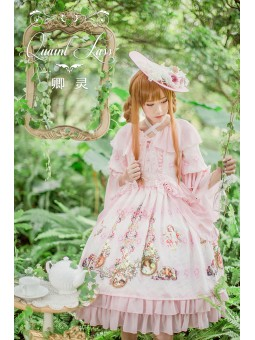 *QuaintLass* ~RoséeMatinale~ Lolita OP Dress/Rococo Tea Party Dress