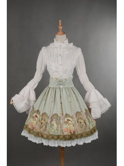 *Neverland* ~Mucha~ Series High Waist Lolita Skirt