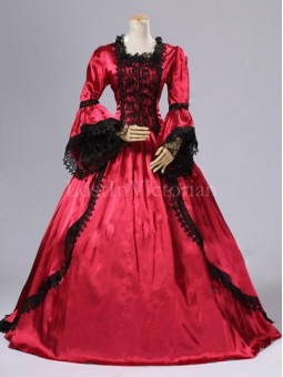 Historical 18th Century Marie Antoinette Inspired Dress Ball Gown Wedding Reenactment Clothing