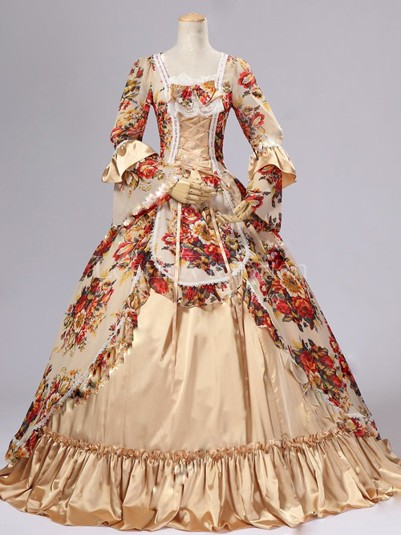 Historical 18th Century Marie Antoinette Inspired Rococo Dress Prom Vintage Wedding Gowns